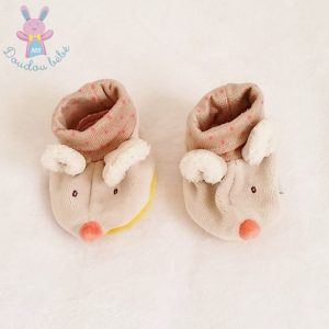 Chaussons Souris Biscotte 0/6 MOIS MOULIN ROTY