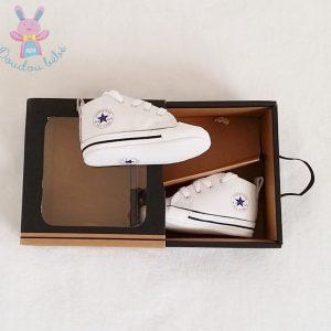 Baskets FIRST STAR blanche montantes bébé Taille 18 CONVERSE