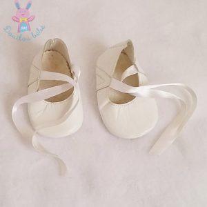Ballerines lacets blanc bébé fille Taille 17