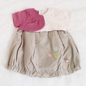 Robe prune rose gris bébé fille 12 MOIS BEBE 9