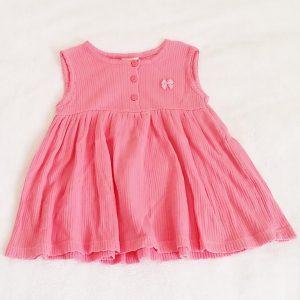 Robe courte rose bébé fille 12 MOIS