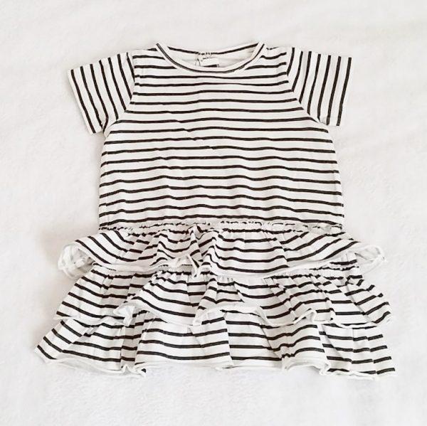 Robe rayée bleu marine bébé fille 12 mois PETIT BATEAU