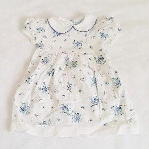 Robe blanche à fleurs bébé fille 12 MOIS JACADI