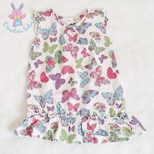 Robe motif papillons colorés bébé fille 12 MOIS