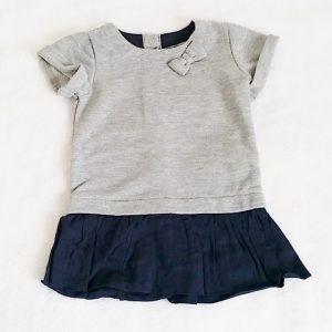 Robe grise marine bébé fille 12 MOIS TAPE A L'OEIL TAO