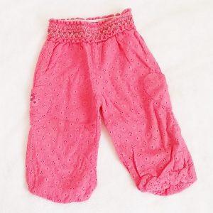 Pantalon rose dentelle bébé fille 12 MOIS ORCHESTRA