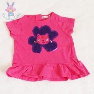 T-shirt rose violet bébé fille 12 MOIS DPAM
