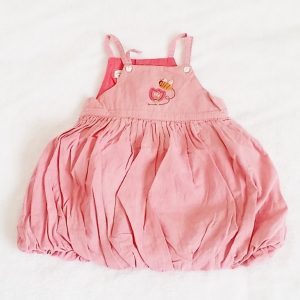 Robe bretelles rose boule bébé fille 12 MOIS CATIMINI