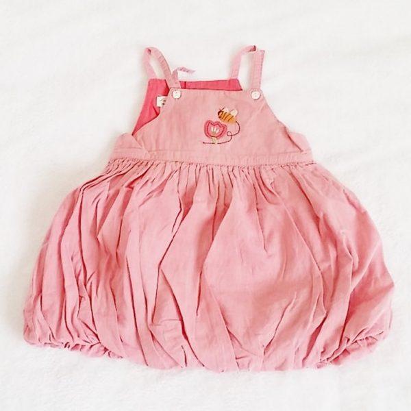 Robe à bretelles rose bébé fille 12 mois CATIMINI