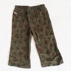 Pantalon léger kaki fleurs bébé fille 12 MOIS IKKS