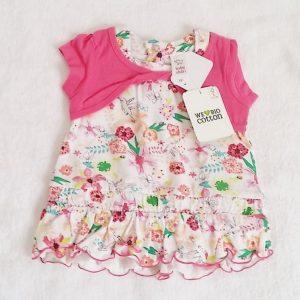 Ensemble Robe fleurs + Short bébé fille 2/3 MOIS