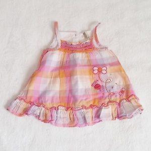 Robe à bretelles carreaux bébé fille 3 MOIS ORCHESTRA