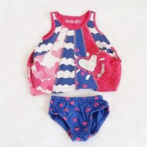 Ensemble Robe + Culotte coloré bébé fille 3 MOIS DESIGUAL