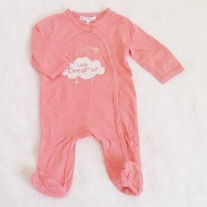 Pyjama coton rose «dreamer» bébé fille 3 MOIS