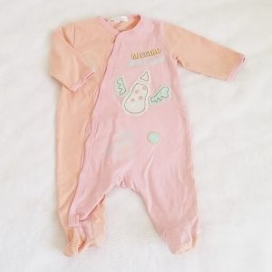 Pyjama coton rose saumon bébé fille 3 MOIS