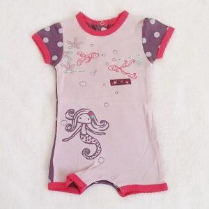 Combishort mauve violet rose bébé fille 3 MOIS
