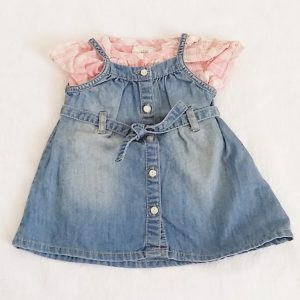 Ensemble robe + Liquette bébé fille 2/4 MOIS H&M