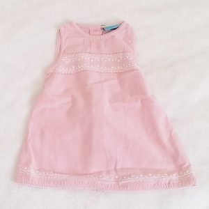 Robe rose brodée bébé fille 6 MOIS DU PAREIL AU MEME DPAM