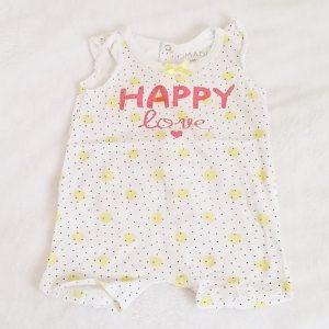 Combishort Happy Love bébé fille 6 MOIS
