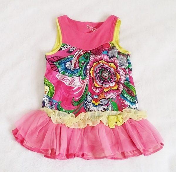 Robe fantaisie rose bébé fille 6 MOIS DESIGUAL