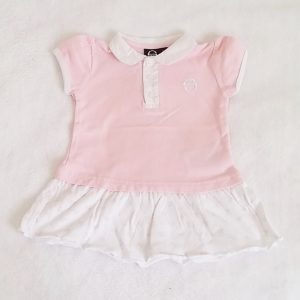 Robe polo rose blanc bébé fille 6 MOIS SERGIO TACCHINI