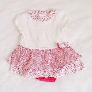 Robe rose blanc fantaisie bébé fille 6 MOIS MAYORAL