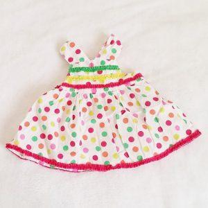 Robe à pois colorés bébé fille 6 MOIS ORCHESTRA