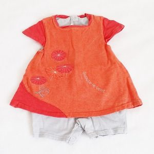 Barboteuse robe bébé fille 6 MOIS MARESE