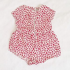 Combishort fraises bébé fille 6 MOIS IKKS