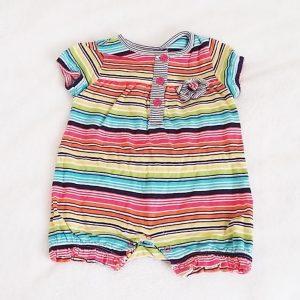 Combishort rayée colorée bébé fille 6 MOIS