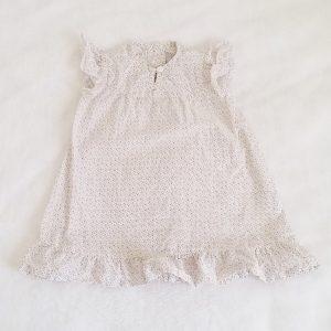 Robe blanche étoiles et pois bébé fille 6 MOIS PETIT BATEAU