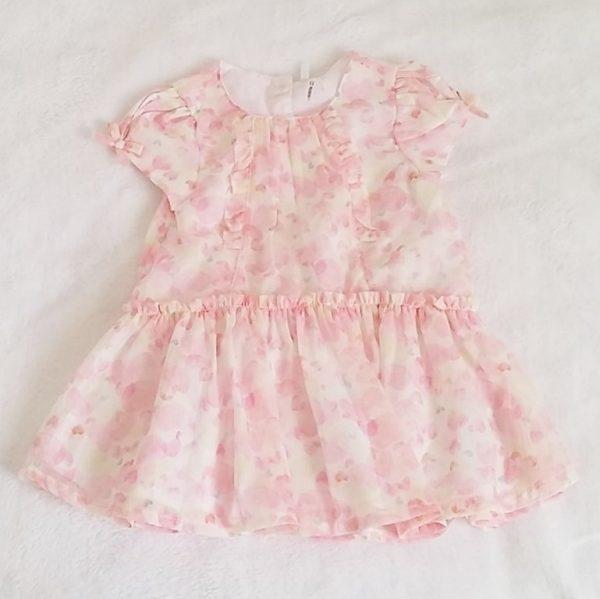 Robe rose été bébé fille 9 mois ORCHESTRA
