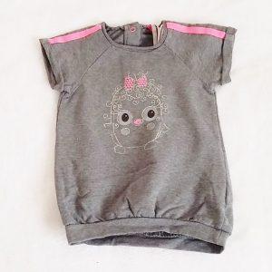 Robe grise et rose bébé fille 9 MOIS ORCHESTRA