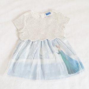 Robe Reine des neiges bleu bébé fille 9 MOIS DISNEY