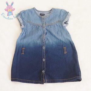 Robe jean bleu dégradé bébé fille 9 MOIS