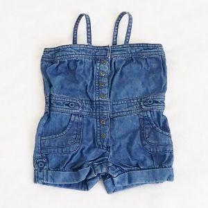 Combishort jean bleu bébé fille 9 MOIS VERTBAUDET