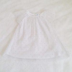 Robe blanche et tulle bébé fille 6 MOIS