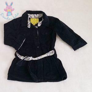 Robe velours marine bébé fille GRAIN DE BLE