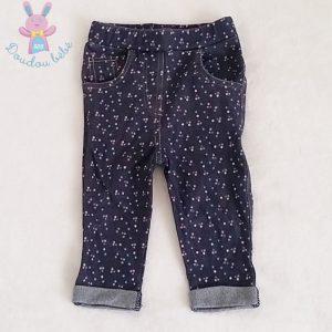 Pantalon slim à fleurs bébé fille 12 MOIS
