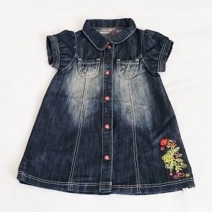 Robe jean bleu délavé bébé fille 12 MOIS ORCHESTRA