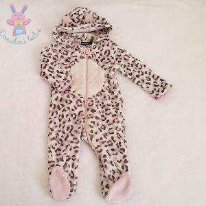 Surpyjama combinaison polaire capuche Chat bébé fille 12 MOIS