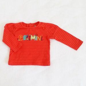 T-shirt orange bébé fille 12 MOIS CATIMINI