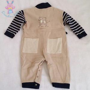 Combinaison beige bébé garçon 12 MOIS DPAM