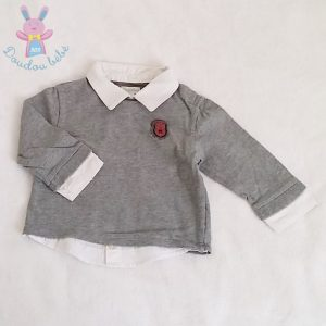 T-shirt gris bébé garçon12 MOIS OBAIBI