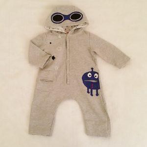 Combinaison à capuche grise bébé garçon 12 MOIS DPAM