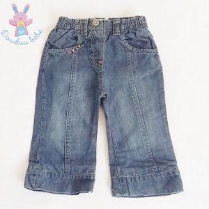 Pantalon jean bleu bébé fille 12 MOIS LULU CASTAGNETTE
