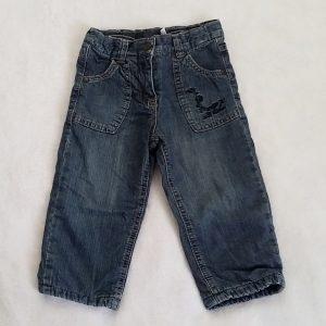 Pantalon jean bleu doublé bébé fille 18 MOIS
