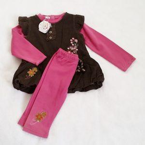 Ensemble 3 pièces Robe + T-shirt + Legging bébé fille 18 MOIS