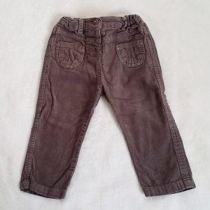 Pantalon velours taupe bébé fille 18 MOIS TAPE A L'OEIL
