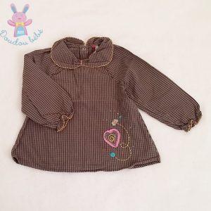Blouse petits carreaux gris bébé fille 18 MOIS ORCHESTRA